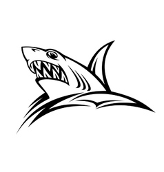 Danger shark tattoo vector image