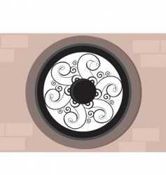 decorative window vector image vector image