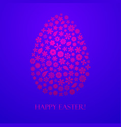 easter egg flowers vector image