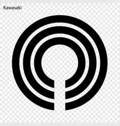 emblem city japan vector image