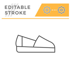 espadrille editable stroke line outline icon vector image