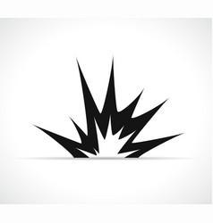 Explosion icon black design vector