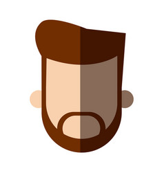 faceless head beard man people image vector image