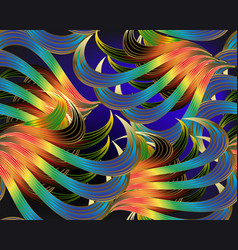 fantasy tropical abstract leafy 3d seamless vector image