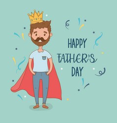 father with super hero coat character vector image