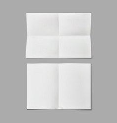 folded paper sheet note with transparent shadow vector image