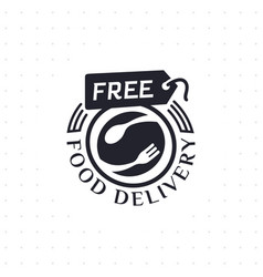 Free food delivery in black color vector