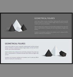 geometrical figures posters vector image