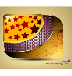 Glossy stars with pattern icon concepts background vector image