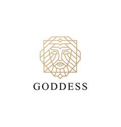 Goddess woman girl female logo icon vector