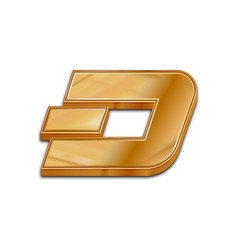 Golden dash coin trendy 3d style icon vector