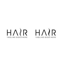 Hair icon for salon logo design concept editable vector