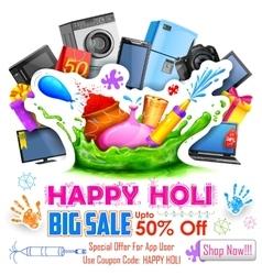Holi promotional background vector