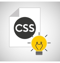 Idea code web program css vector
