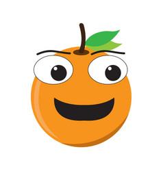 isolated happy orange emote vector image
