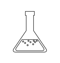 Laboratory glass soluion chemistry line vector