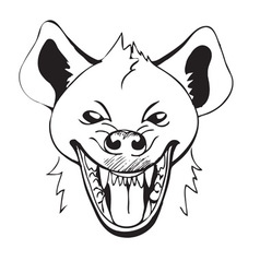 laughing hyena vector image