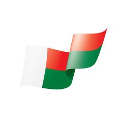 madagascar flag on a white vector image
