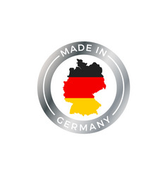 made in germany icon with german flag map badge vector image