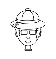 Man face over white background vector