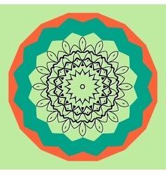 Mandala in outlines inside round frame vector image