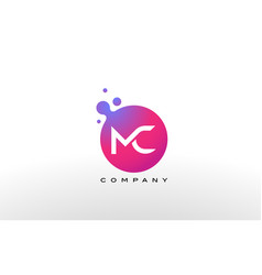 Mc letter dots logo design with creative trendy vector