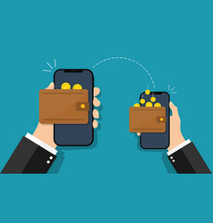 Money mobile transfer easy payment in electronic vector