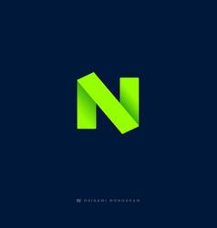 n origami logo vector image