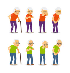 old mens and womens disease vector image