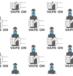 pattern emblem of the electronic cigarette vector image