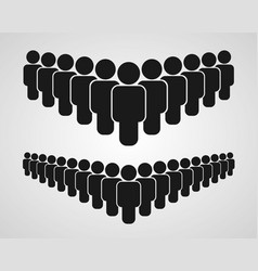 people group icon on white background vector image