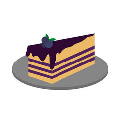 piece of cake icon vector image