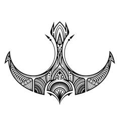 Polynesian tattoo ornament vector