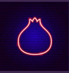 pomegranate neon sign vector image