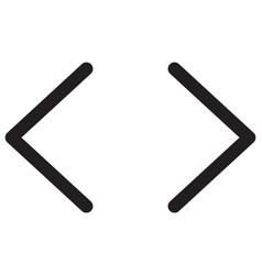 Previous and next button arrows for slides show vector