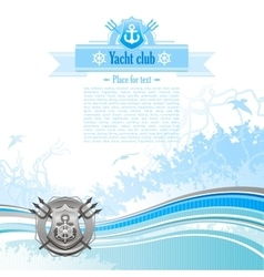 Sea travel background design for yacht club with vector