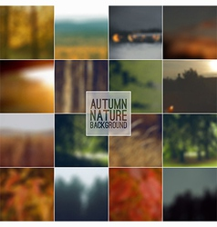 Set of blurred backgrounds landscape vector