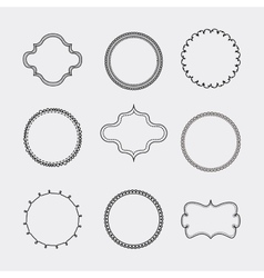 Set of Label and decoration icon Hand draw design vector image
