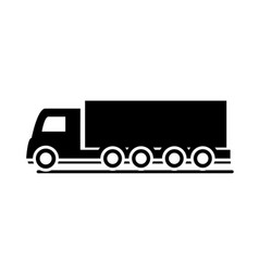 shipping delivery truck transport vehicle vector image