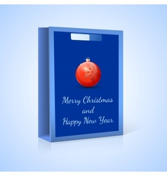 Shopping bag Christmas vector