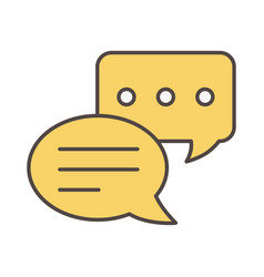 Sms message chat social media icon vector
