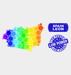 Spectrum mosaic leon province map and scratched vector
