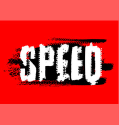 Speed lettering image vector