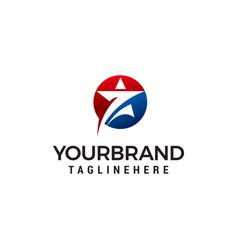 Stars in circle logo design concept template vector