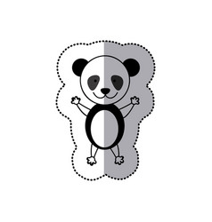Sticker colorful picture cute panda animal vector