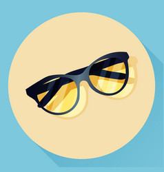 Summer glasses icon vector