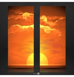 Sunset Sunrise With Clouds vector image