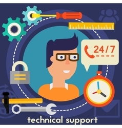 Technical Support Concept vector