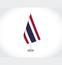 Thailand flag on white background vector