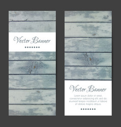 vertical banners cards set wood planks vector image